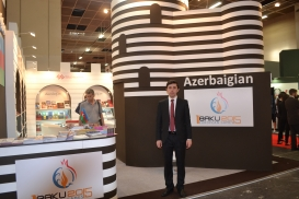 AzTC representative at Turin International Book Fair