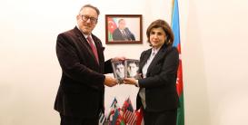 Austrian Ambassador presented with a two-volume book by Franz Kafka.