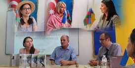 """عقد لقاء مع الشاعر الأذربيجاني """"سلام سروان"""" في كييف"""