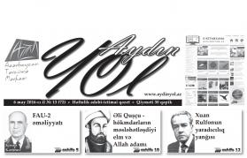 """""""Aydın yol"""" 06 may 2016-cı il"""