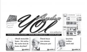 """""""Aydın yol"""" 10 dekabr 2016-cı il"""