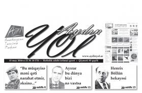 """""""Aydın yol"""" 13 may 2016-cı il"""