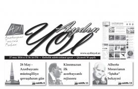 """""""Aydın yol"""" 27 may 2016-cı il"""