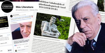 Bəxtiyar Vahabzadə yaradıcılığı Meksika portalında