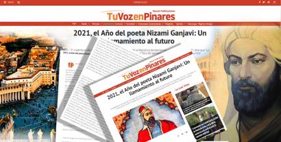 Nizami Ganjavi Appears on a Spain Portal