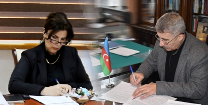 توقيع مذكرة تفاهم بين مركز الترجمة الحكومي الأذربيجاني واتحاد الكتاب الوطني الأوكراني.