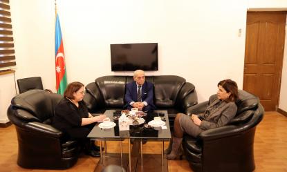 Состоялась встреча с главой австрийского Представительства Государственного Центра Перевода Азербайджана