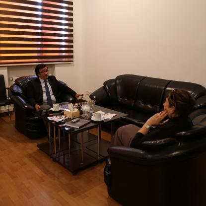 Avrasiya Yazarlar Birliyinin baş direktoru Yaqub Öməroğlu Tərcümə Mərkəzində