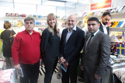Delegation des Übersetzungszentrums kam mit dem Chef des Förderzentrums für nordeuropäische Literatur zusammen