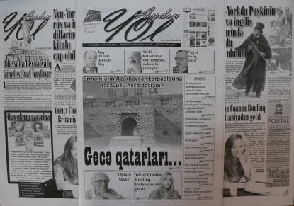 """""""Aydın yol"""" qəzetinin növbəti sayı bu gün köşklərdə"""