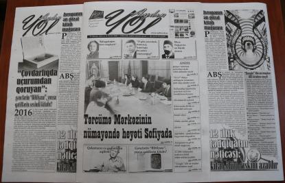 """""""Aydın yol"""" qəzetinin növbəti sayı köşklərdə"""