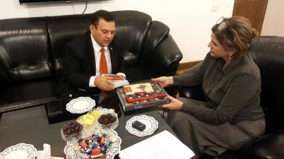 Le représentant officiel de l'Ambassade de Turquie au Centre de Traduction