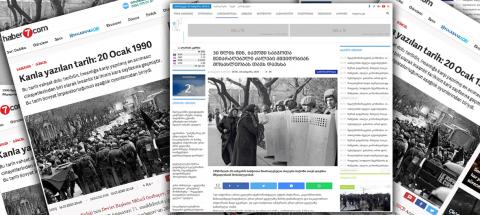 Türkiyə və Gürcüstan portalları 20 Yanvar faciəsindən yazdı