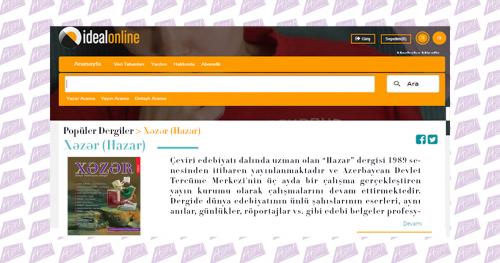 La revista Khazar en la biblioteca electrónica de Turquía